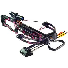 Barnett Lady Raptor FX Crossbow Package with 4x32 Multi-Reticle Scope - Pink
