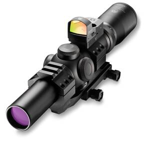 REFURBISHED Burris Fullfield TAC30 Tactical Rifle Scope w/FastFire & Mount - 1-4x24mm Ballistic CQ Reticle Matte