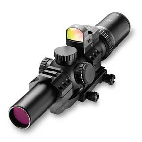BLEMISHED Burris MTAC Rifle Scope w/FastFire & Mount - 1-4x24mm Ballistic CQ Reticle Black Matte