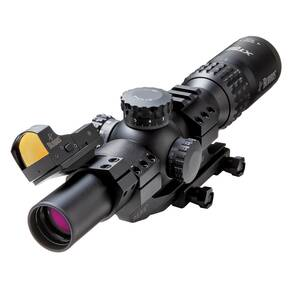 Burris XTR II Rifle Scope Combo - 1-5x24mm Illum. XTR II Ballistic 5.56 G3 Reticle Low Mil Knobs Matte