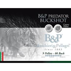 B&P Predator Buckshot Shotshells- 12 ga 2-3/4 In 2 oz #00 1280 fps 10/ct