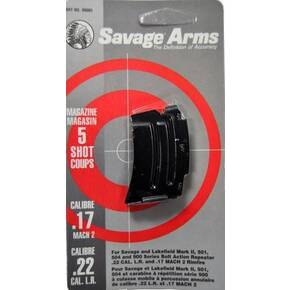 Savage Arms Mark II Series .22 LR / .17 MACH 2 Magazine Blued Steel 5/rd