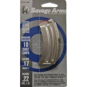 Savage Arms Mark II Series .22 LR / .17 MACH 2 Magazine Stainless Steel 10/rd