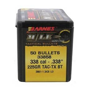 "Barnes M/LE TAC-TX Tactical Bullets .338 cal .338"" 225 gr BT 50/ct"