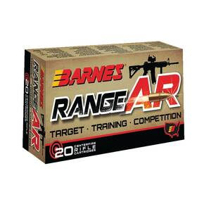 Barnes Range AR Rifle Ammunition .300 AAC Blackout 90 gr OTFB 2550 fps 20/ct