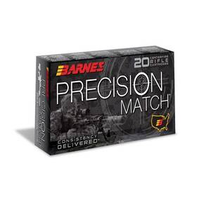 Barnes Precision Match Rifle Ammunition .300 Win Mag 220 gr OTM BT  20/box