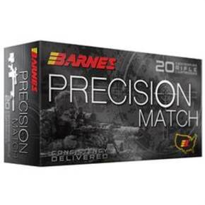Barnes Precision Match Rifle Ammunition 5.56mm 85 gr OTM 20/ct