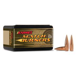 "Barnes Match Burners Rifle Bullets 6.5mm .264"" 120 gr BT MATCH 100/Box"