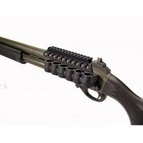 Mesa Tactical SureShell Polymer Carrier and Saddle Rail for Remington 870 (6-Shell, 12-GA, 5 in