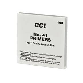CCI Standard Primers #41 (Small) 5.56mm Military / NATO Sensitivity 1000/ct