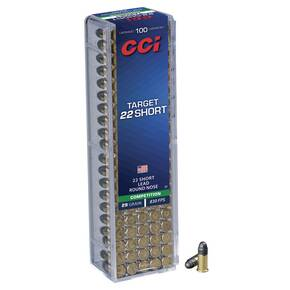 CCI 22 Short Target Rimfire Ammunition .22 Short 29 gr LRN 830 fps 100/ct