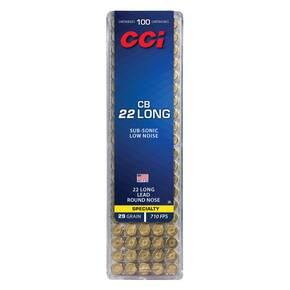 CCI CB Long Rimfire Ammunition .22 Long 29 gr LRN 710 fps 100/ct