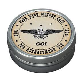 CCI 4-Wing Musket Caps / Percussion Caps (Designed for Re-enactment) 100/ct