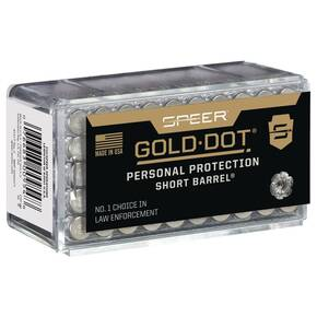 Speer Gold Dot Short Barrel Personal Protection Rimfire Ammunition .22 WMR 40 gr HP 1050 fps 50/ct