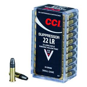 CCI Suppressor .22 LR 45 gr HP 50/Box