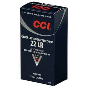 CCI Quiet-22 .22 LR 40 gr HP 50/Box
