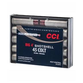 CCI Big 4 Handgun Shotshell Ammunition .45 Colt #4 800 fps 10/ct