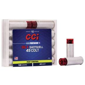 CCI Big 4 Handgun Shotshell Ammunition .45 Colt #4 850 fps 10/ct