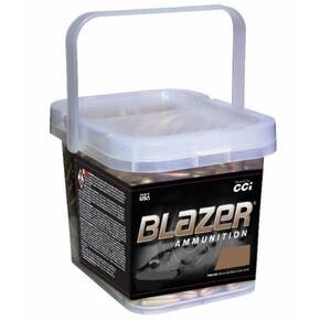 CCI Blazer Brass Handgun Ammunition Bucket .380 ACP 95 gr FMJ 945 fps 200/ct