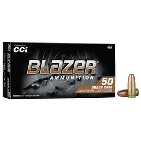 CCI Blazer Brass Handgun Ammunition 9mm Luger 147 gr FMJ 50/ct