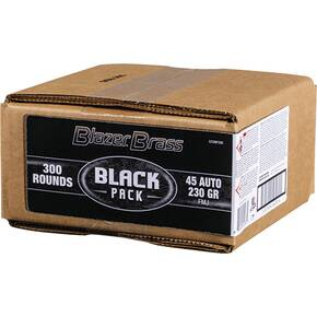 CCI Blazer Brass Black Pack Ammunition .45 ACP 230 gr FMJ 830 fps 300/ct