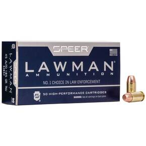 Speer Lawman Handgun Ammunition .45 ACP 185 gr TMJ 1050 fps 50/ct