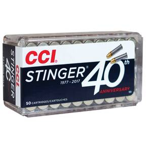 CCI Stinger Rimfire Ammuntion .22 LR LRHP 1640 fps 1640 fps 50/ct