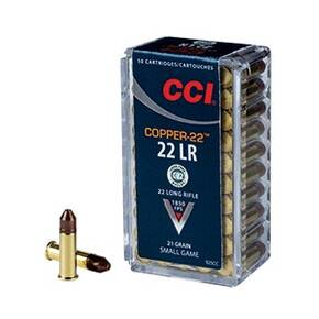 CCI Copper-22 Rimfire Ammunition .22 LR 21 gr CHP 1850 fps 50/ct
