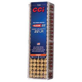 CCI  Target HV Red Rimfire Ammuntion .22 LR 40 gr LRN 1240 fps 100/ct