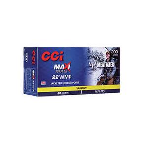 CCI MeatEater Maxi Mag Rimfire Ammunition .22 WMR 40 GR JHP 1875 fps 200/ct