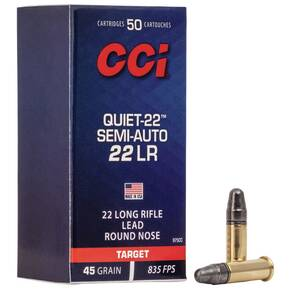 CCI Semi Quiet-22 Rimfire .22 LR 40 gr LRN 710 fps 50/ct