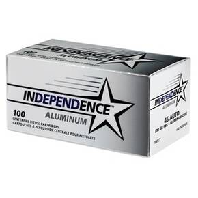 CCI Independence Aluminum Handgun Ammunition .45 ACP 230 gr FMJ 100/ct