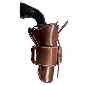 Hunting Series Cowboy Holsters Fits Caliber .45  5.5inch Dark Brown Ambi