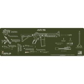 Cerus Gear AR-15 Instructional Promat - Olive Drab Green
