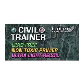 Liberty Civil Trainer Handgun Ammunition 9mm Luger  65 gr LF 1700 fps 50/ct
