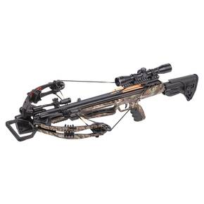 Crosman Mercenary Whisper 390 Tactical Adjustable Stock Compound Crossbow Package with 4x32mm Scope - Camo