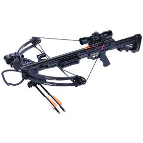 "Centerpoint Sniper Compound Crossbow with 3 (20"") Carbon Bolts, 4X32 Scope - Black"