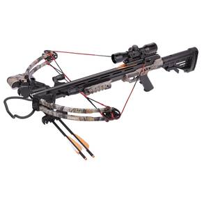 "Centerpoint Sniper Compound Crossbow with 3 (20"") Carbon Bolts, 4X32 Scope - Camo"