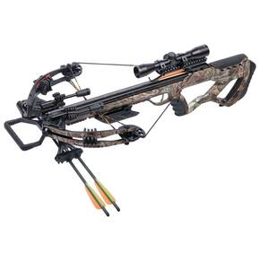 Crosman Tormentor Whisper 380 All-Weather Composite Stock Compound Crossbow Package w 4x32m Scope