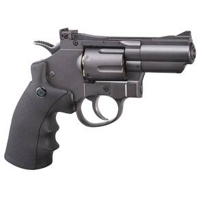 Crosman CO2 Powered Dual Ammo Full Metal Snub Nose Air Revolver .177cal - Black/Grey