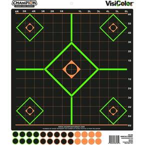 "Champion VisiColor Adhesive Sight-In Target - 14"" x 16.25"" 5/ct"