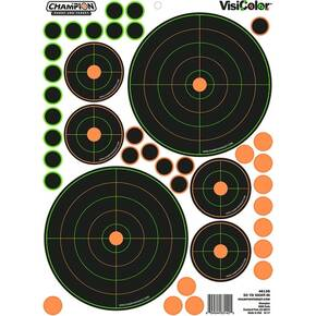 "Champion VisiColor Adhesive 50-yard Sight-In Target-8.5"" x 11.5"" 5/ct"