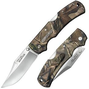 "Cold Steel Double Safe Hunter Tri-Ad Lock Knife - 3-1/2"" Blade Camo GFN"