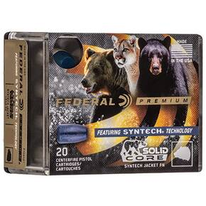 Federal Solid Core Handgun Ammunition .44 Rem Mag 300 gr TSJ 20/ct