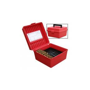 MTM Deluxe R-100 MAG-30 Series Rifle Ammo Box - 100 rd, Red