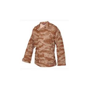 Tru-Spec BDU Coat - 100% Cotton Rip-Stop Desert Tiger Stripe Medium