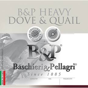B&P Dove & Quail Shotshells- 12 ga 2-3/4 In 1-1/8 oz #8 1255 fps 25/ct