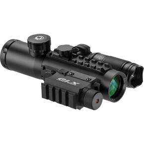 Barska IR Electro Sight with Green Laser & Flashlight - 4x30mm 140 Lumen