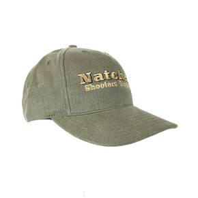 Natchez Logo Ball Cap - Medium Profile Olive - Made in the USA