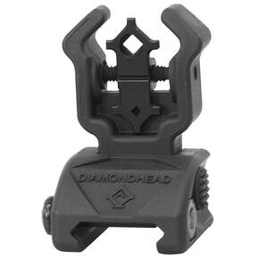 Diamondhead Polymer Diamond Flip Up Rear Sight with NiteBrite - Matte